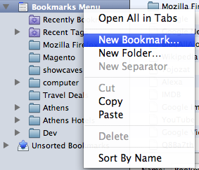 Firefox Add New Bookmark