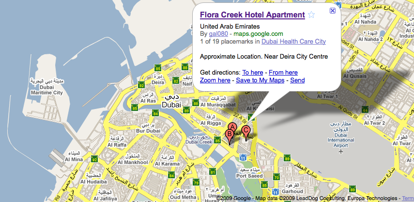 google maps funny sights. Google Maps Dubai Sample