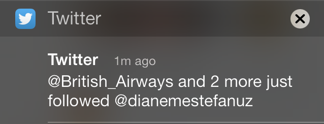 Twitter weird push notification message on iPhone
